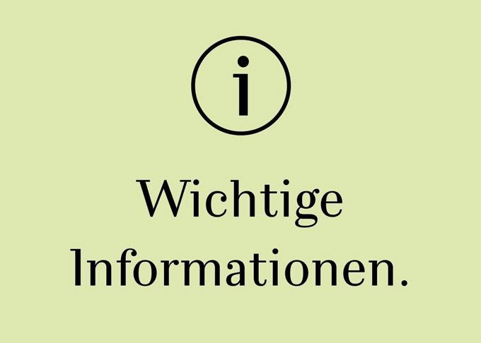 Wichtige Informationen